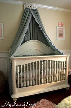 Diy Bed Crown & Crib Canopy Tutorial