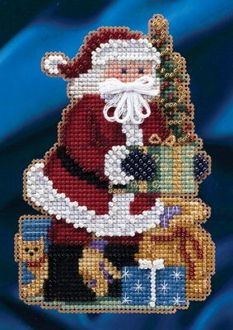 Mill Hill Merry Christmas Santa Ornament Cross Stitch Kit