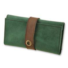 Leather womens wallets, ladies wallets, womens leather purse green by DeKolieShop on Etsy