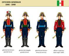 uniformes - The halls of Montezuma Montezuma, Mexican Army, Mexican American War, Indiana, American Uniform, Etat Major, Soldiers, Military Uniforms, Military Art