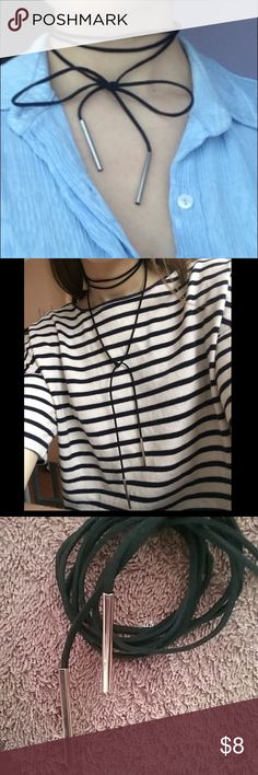 Black/Silver Choker Black/Silver choker. Comes brand new in packaging. Jewelry Necklaces