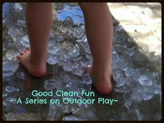 Ice Stomping Outdoor Fun for Preschoolers (and adults alike!)
