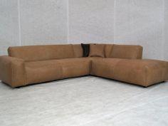 Lounge bank in prachtig rundleder nu € 2995,- > Leren hoekbanken  Meubeltrack