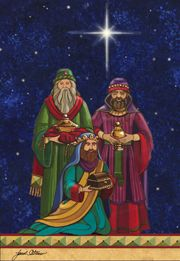 Christmas art, nativity art, nativity paintings by renowned artist Janet Stever.