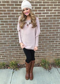 Dolman tunic sweater #swoonboutique