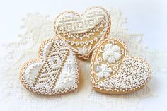 My little bakery :): Lace heart cookies