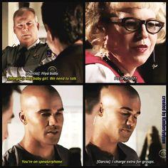 Morgan and Garcia are hilarious <3 #CriminalMinds