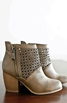 Emerson Ankle Booties-Taupe - the shoe store, shoe shops online, shoes online sites *ad Stilettos, Pumps, High Heels, Cute Shoes, Me Too Shoes, Pretty Shoes, Bootie Boots, Shoe Boots, Cute Ankle Boots