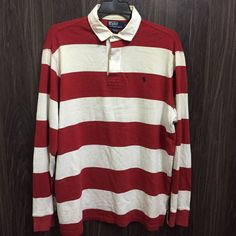 76202251 Vintage 90s Polo Ralph Lauren Rugby Shirt Style Big Striped Size L by  bintangclothingstore on Etsy