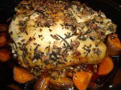 paleo crockpot turkey breast with sweet potatoes