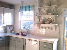 Before &#38 After: A Kitchen Transformed By Paint, Twice — Mom and Her Drill