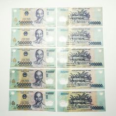 Collecters Item Vietnamese Dong 1000000 Vnd 2 500000 Notes Circulated Great Condition