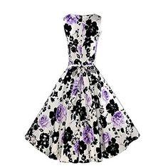 Janecrafts Women's Vintage 1950's 'Audrey Hepburn' Style Sleeveless Floral Print Rockabilly Party Swing Dress Janecrafts http://www.amazon.com/dp/B00XEO46KO/ref=cm_sw_r_pi_dp_PhNwvb00WB2CZ