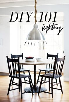All you need to know to DIY just about every light out there, from basic wiring techniques to pendants made from old bird cages! #diy #lighting #101