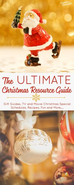 The Ultimate Christmas Resource Guide - Recipes, Traditions, Family Fun, Gift Guides, Christmas TV Special Schedules and More. via @sunandhurricane
