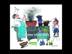 Liedje:Roeren in de pan - YouTube Pizza Restaurant, Restaurant Themes, Preschool Food, School Themes, Schmidt, Diy For Kids, Bakery, Projects, Annie