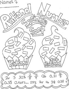 Rational Numbers- Sprinkle Sort Activity Math Cafe, Real Number System, Irrational Numbers, Real Numbers, Sorting Activities, Arithmetic, Number Sense, Sixth Grade, Algebra