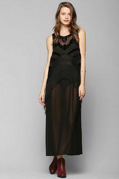 ARTS THREAD X UO Charlotte Fringe Maxi Dress #urbanoutfitters