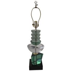 Mid-Century Lucite Lamp | From a unique collection of antique and modern table lamps at http://www.1stdibs.com/furniture/lighting/table-lamps/
