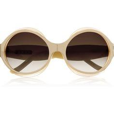 Marni Metallic round-frame sunglasses ($105) ❤ liked on Polyvore