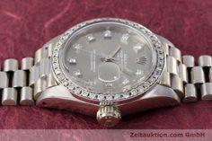 Rolex Lady Datejust 18k Weissgold Automatik Kal. 2030 Ref. 6917    153577 05