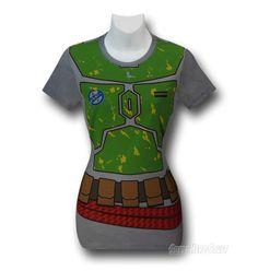STAR WARS Boba Fett Ladies Costume T-Shirt