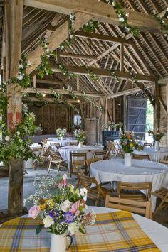 Reception in a barn