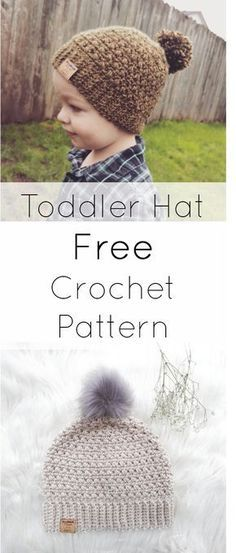EASY free crochet pattern for a toddler beanie/hat. It also comes in an adult size too - perfect for a Mommy and Me set! :) This beanie has the perfect fit and is a very popular and versatile pattern. Repin for later!