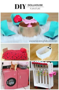 This is the best easy DIY dollhouse furniture. These are inexpensive dollhouse ideas that kids can make with recycled materials.