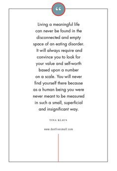 Don't Live Small | Living a Meaningful Life #eatingdisorders #eatingdisorderrecovery #recoveryquotes