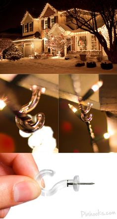 Um, this is genius! Pinhooks Wall Hooks for Christmas Lights!