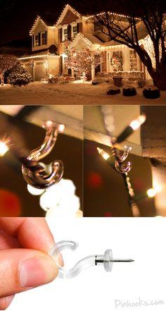 Pinhooks Wall Hooks for Christmas Lights! :) www.Pinhooks.com