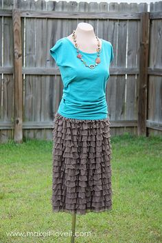 DIY Ruffle skirt from ruffle fabric