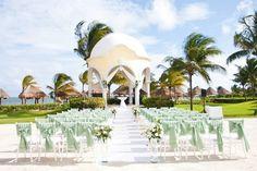 Say 'I do' to this beautiful wedding gazebo at Secrets Capri Riviera Cancun. Large Gazebo, Hot Tub Gazebo, Destination Wedding Inspiration, Riviera Maya, Wedding Gazebo, Resort Spa, Beach Themes, Cancun, Capri