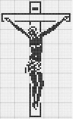 holy cross of Filet Crochet Charts, Crochet Cross, Cross Stitching, Cross Stitch Embroidery, Religious Cross Stitch Patterns, Beading Patterns Free, Plastic Canvas Patterns, Cross Stitch Designs, Religion