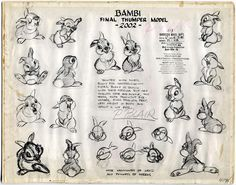Vintage Disney drawing thumper