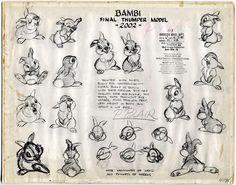 Vintage Disney drawing thumper