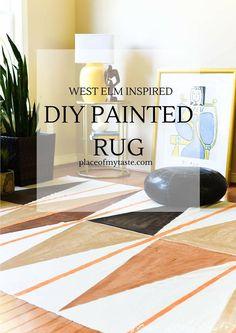 West Elm Inspired DIY Painted Rug