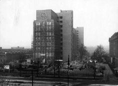 Berlin, Der Bau des Siemens-Schaltwerk-Hochhauses 1926-1928.