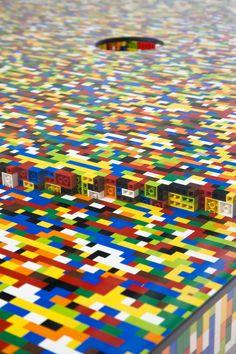 Lego boardroom table. Love.