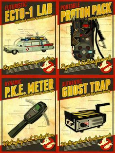 Loving this Ghostbusters Technical Poster Set Set of 4 posters on Ghostbusters Party, The Real Ghostbusters, Spirit Ghost, Proton Pack, D Mark, Concert Posters, Movie Posters, Ghost Busters, Cult Movies