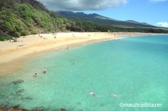This beach goes on forever. Found in Maui Trailblazer guidebook. www.trailblazerhawaii.com