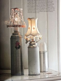 old thermos lamps...funky