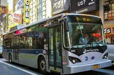 #NEW YORK N.Y ECO.COM BYD electric bus tested in the streets of New York for zero-emissions driving