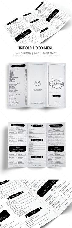 Minimal Food Menu | Menu templates, Food menu template and Template