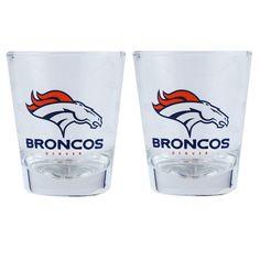 Denver Broncos 2oz. Cordial Bottoms Up Collector Glass