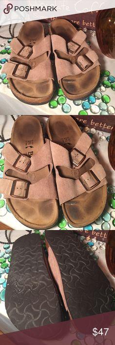 Betula Sandals Ladies Sz 11- Mens Sz 9- Genuine Suede- Good condition- Licensed by Birkenstock- Very nice! Birkenstock Shoes Sandals