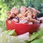 Gourmet Chicken Salad- we had this for dinner tonight as sandwiches.  I added apples and grapes too. Yum-O!