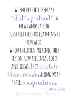 Pretend Play | Day 28 - 30 Days to Transform Your Play - Offering inviting materials which will provoke children to delve deeper into their imaginations.