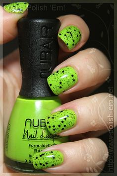 Nubar Hot lime and Black Polka Dots. Gorgeous look.